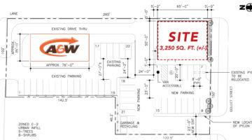 Site plan of 376 Goulet Street in Winnipeg, MB.