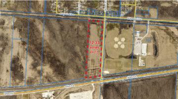 Aerial of 916 Fairmont Road land in Winnipeg, MB.