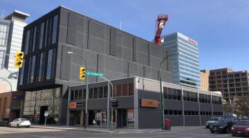 Exterior of 205 Edmonton Street in Winnipeg, MB.