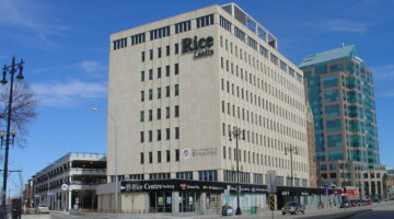 Front exterior of 503 Portage Avenue in Winnipeg, MB.