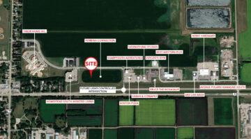 Aerial of Morden Development Land in Morden, MB.