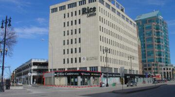 Exterior of 503 Portage Avenue in Winnipeg, MB.