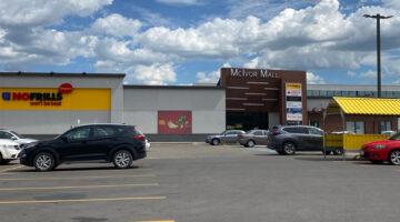 Exterior of McIvor Mall, 1795 Henderson Highway in Winnipeg, MB.