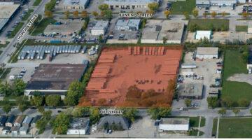 Aerial of 1196 Fife Street in Winnipeg, MB.