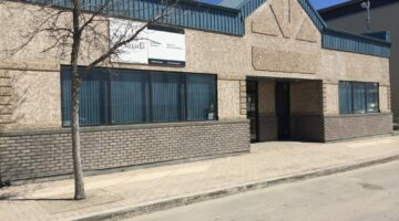 Front exterior of 103-111 Main Street in Flin Flon, MB.
